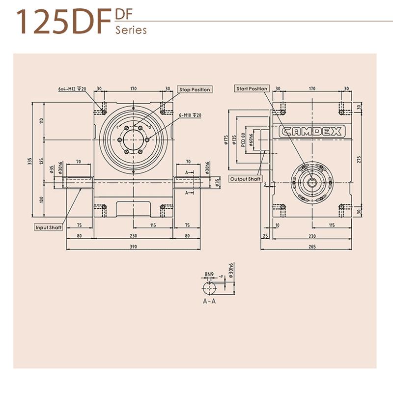گیربکس ایندکس کامدکس مدل RU125DF