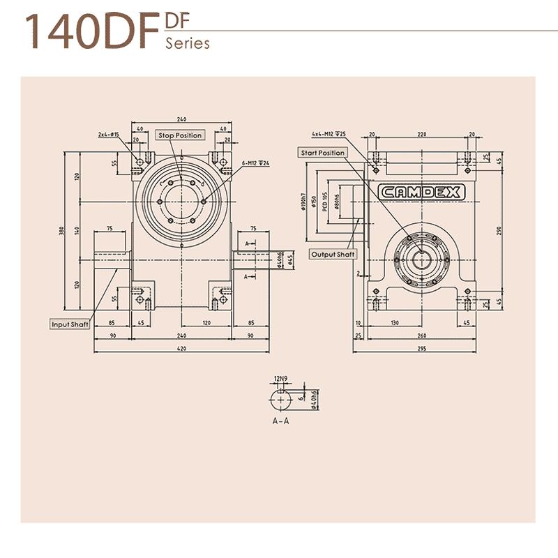 گیربکس ایندکس کامدکس مدل RU140DF