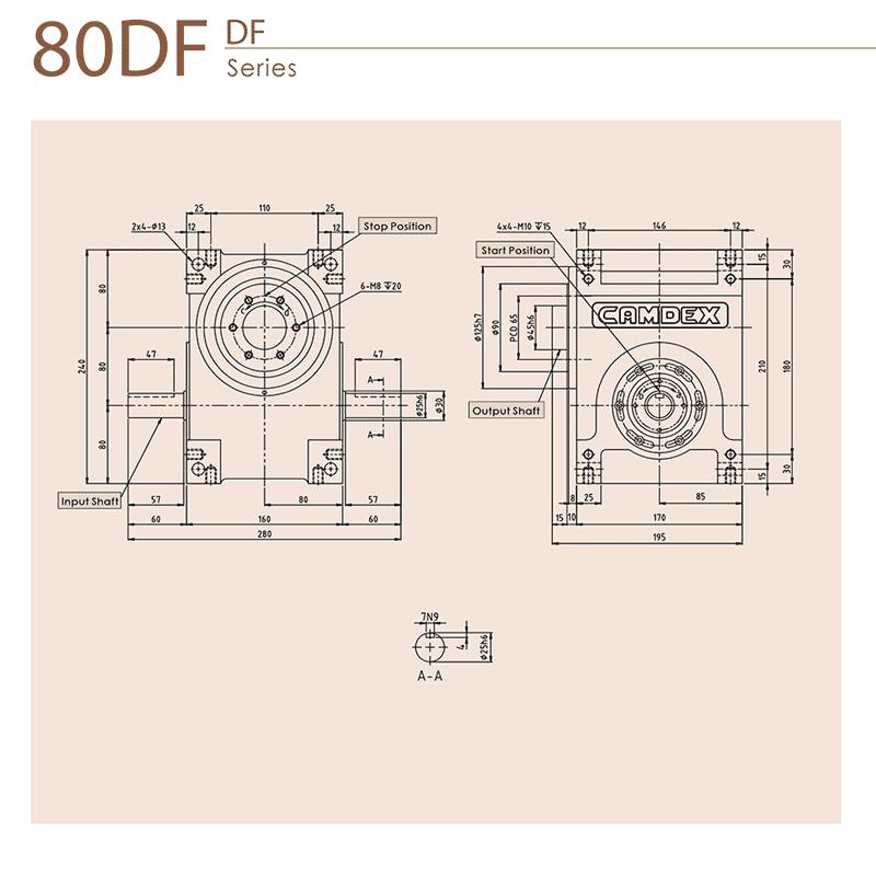گیربکس ایندکس کامدکس مدل RU80DF